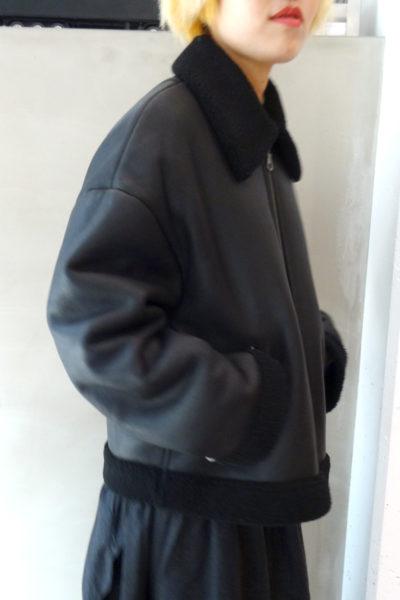 Christian Wijnants 【POINT×10】ラムファーZIPジャケット(MOGGIE CO-OP別注)【17AW】