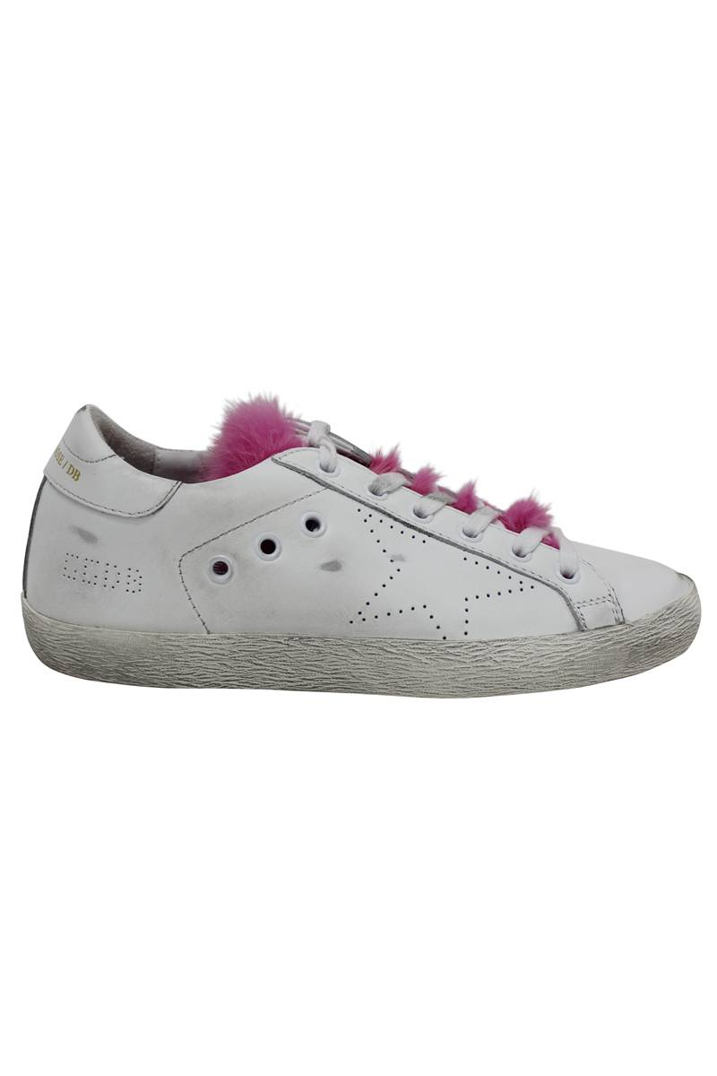 【POINT×10】レザー×ファーローカットスニーカー [SNEAKERS SUPERSTAR](LADIE'S)  [17AW]
