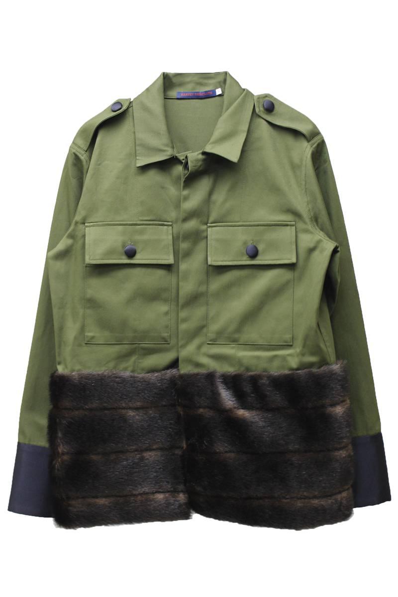 【40%OFF】裾ファー切替ミリタリージャケット【17AW】