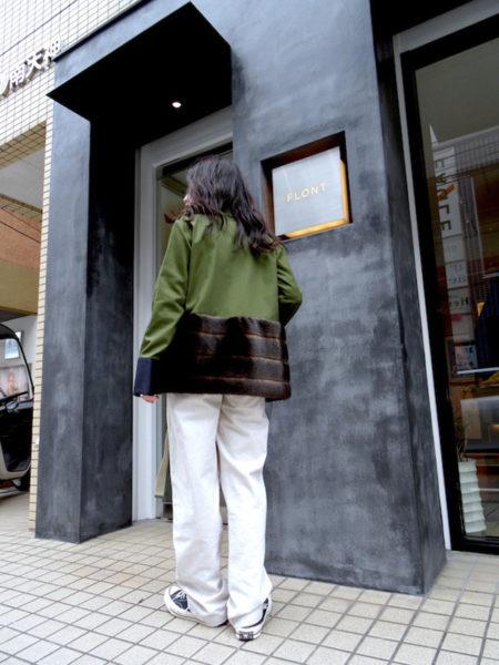 HARVEY FAIRCLOTH 【40%OFF】裾ファー切替ミリタリージャケット
