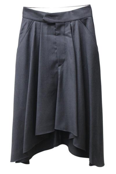 ISABEL MARANT ラウンド裾タックフレアースカート [17AW]