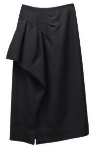 MAISON MARGIELA 【40%OFF】アシンメトリーフリルロングスカート [17AW]