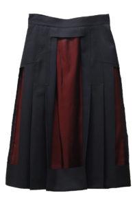 MAISON MARGIELA 【40%OFF】ウールカッティングレイヤードスカート [17AW]