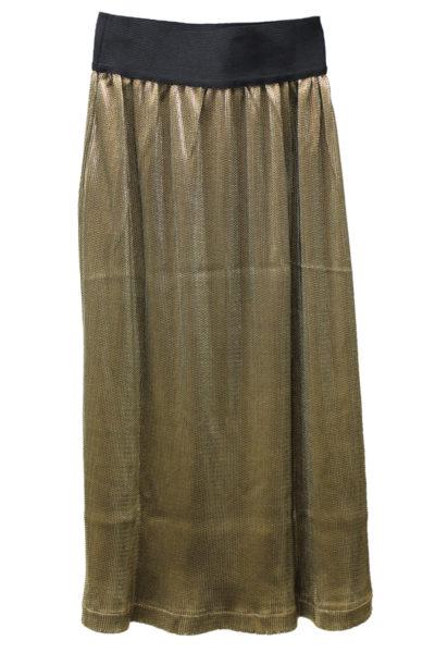 MAISON Olga メタリックギャザースカート【17AW】