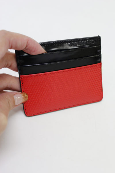 PIERRE HARDY 【30%OFF】型押しレザー×パテントカードケース