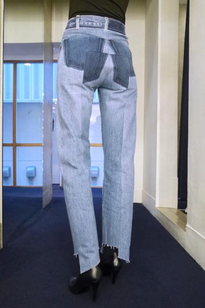 VETEMENTS リワークドプッシュアップジーンズ