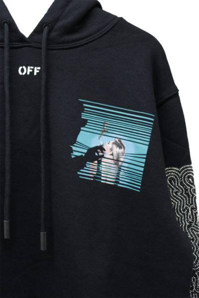OFF-WHITE 【50%OFF】袖ビジューバックプリントフーディー