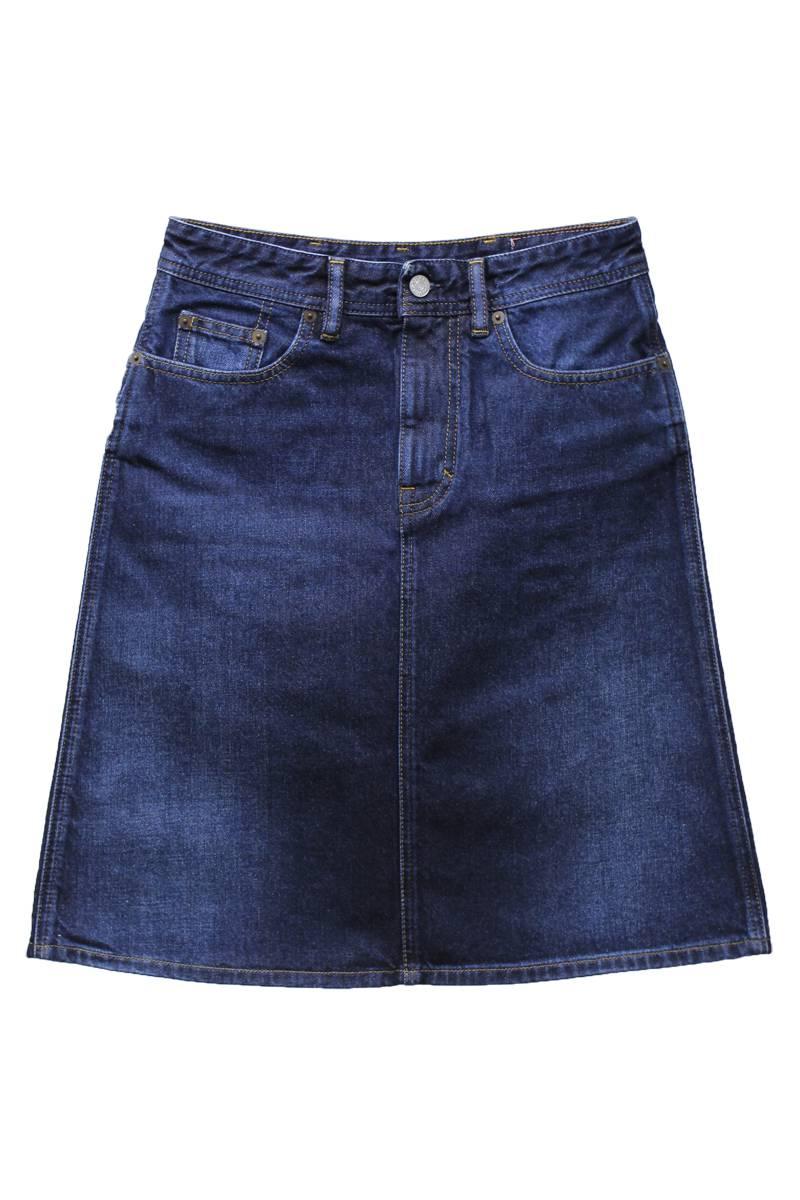 Acne Studios ウォッシュデニムひざ丈スカート