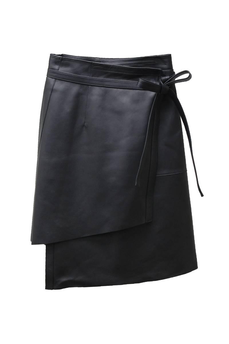 Acne Studios 【70%OFF】ラムレザーラップスカート