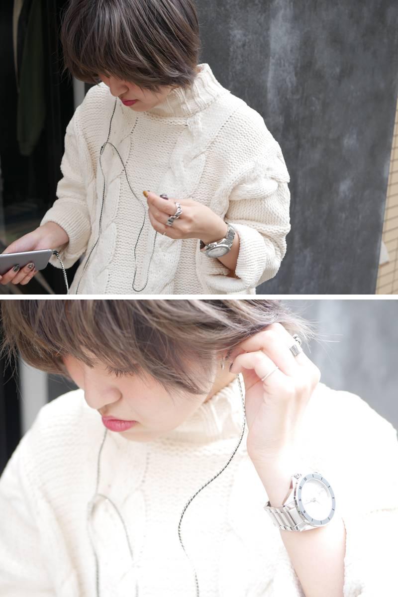 BLESS ラインストーンイヤフォン(SILVER)