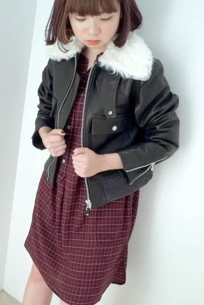 JOHN LAWRENCE SULLIVAN 【50%OFF】ラムファー付ゴートレザージャケット