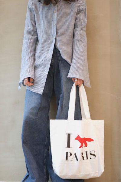 MAISON KITSUNÉ 【40%OFF】I FOX PARISトートバッグ