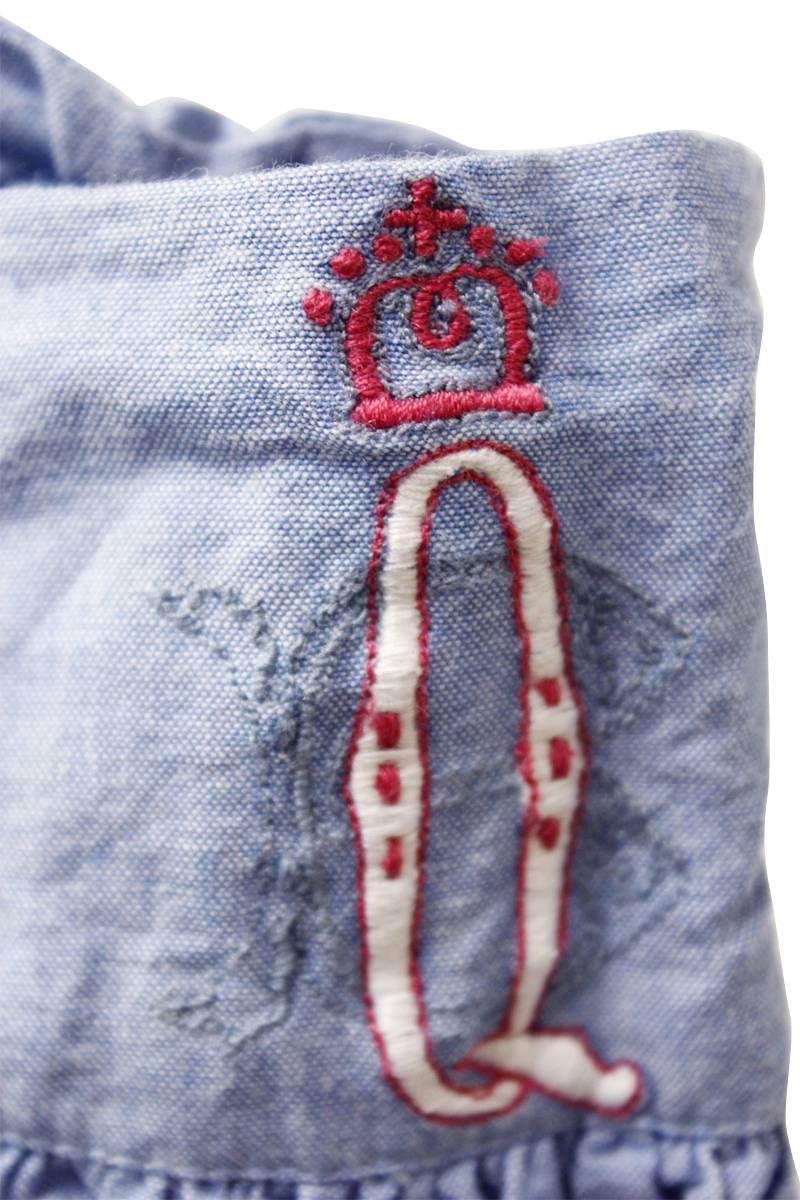 QUEENE and BELLE ウエスト刺繍デニムスカート