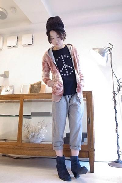 QUEENE and BELLE ウール裾しぼり7分丈パンツ