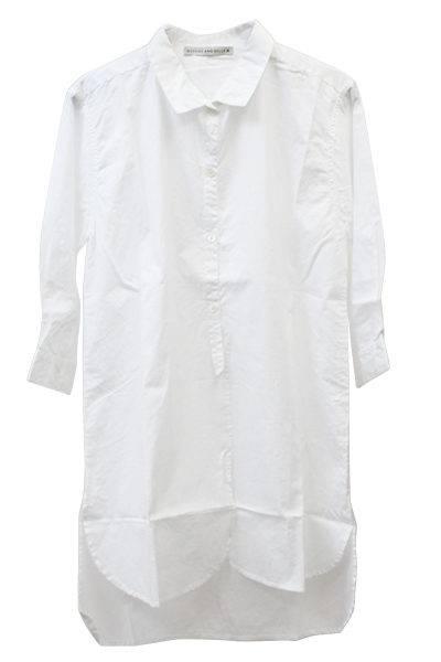 QUEENE and BELLE コットン5分袖ロングシャツ