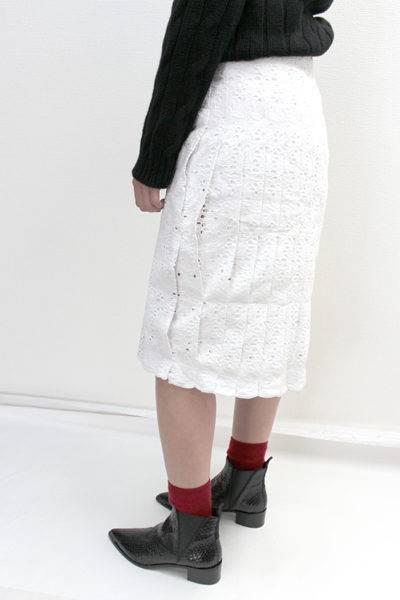 QUEENE and BELLE コットンレースラップスカート