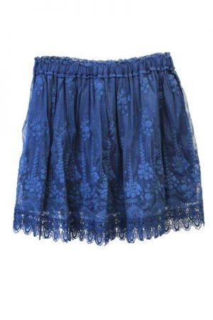 QUEENE and BELLE レース刺繍スカート