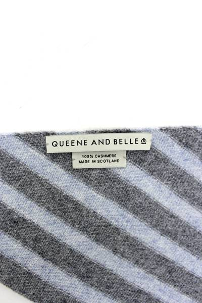 QUEENE and BELLE ボーダーインディアンニットバンダナ