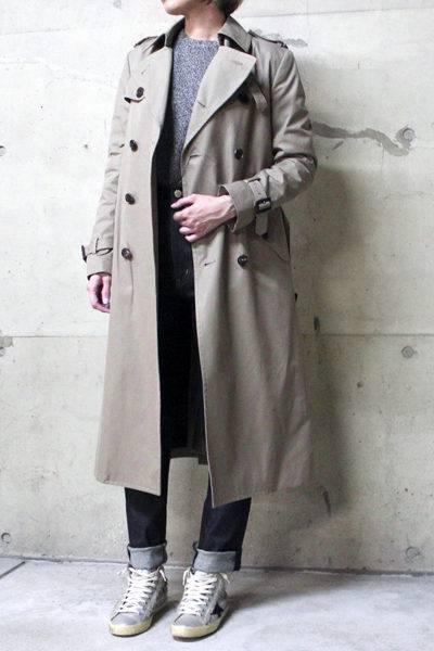 JOHN LAWRENCE SULLIVAN 【50%OFF】コットンロングトレンチコート
