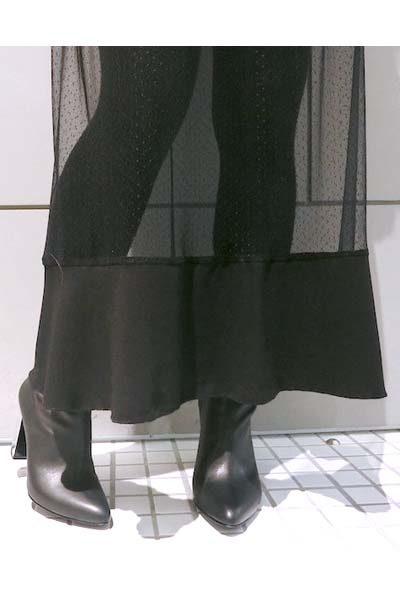furuta 【40%OFF】ドットチュールギャザースカート [17AW]