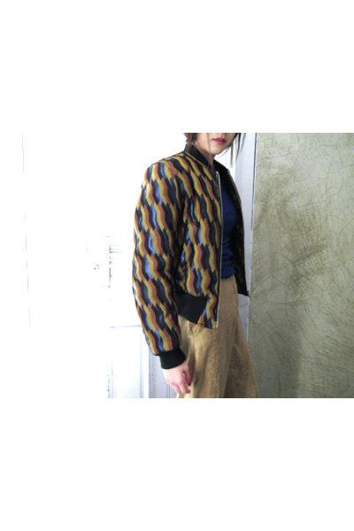 DRIES VAN NOTEN V【30%OFF】マルチカラー総柄織ボンバージャケット[17AW]