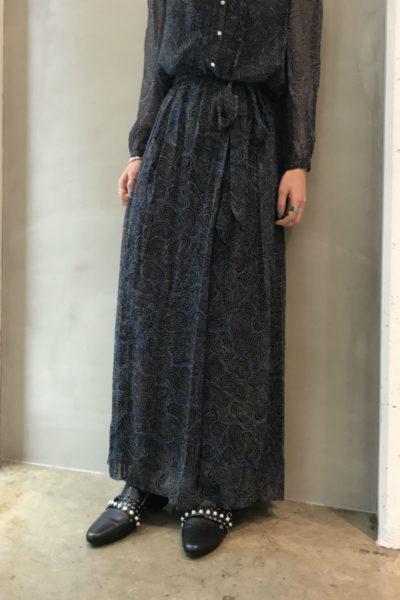 ISABEL MARANT ETOILE 【V】シルクマルチ柄ラップロングスカート[18SS]