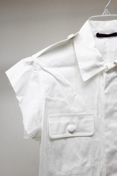 HARVEY FAIRCLOTH 【40%OFF】コットンバブルヘムフレンチジャケット(WHITE)