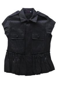 HARVEY FAIRCLOTH 【40%OFF】バブルヘムフレンチスリーブジャケット(BLACK)【18SS】