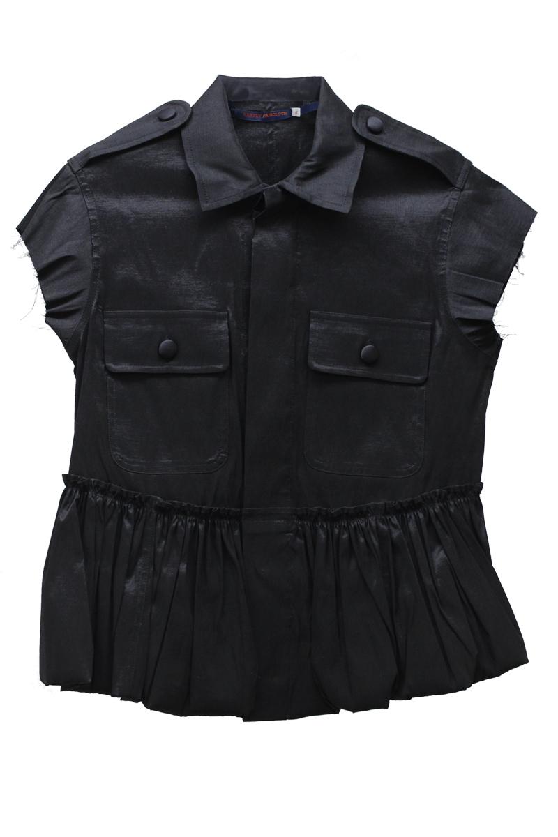 HARVEY FAIRCLOTH バブルヘムフレンチスリーブジャケット(BLACK)