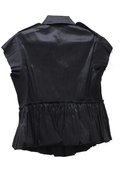 HARVEY FAIRCLOTH バブルヘムフレンチスリーブジャケット(BLACK)【18SS】