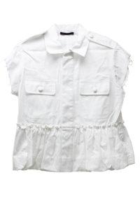HARVEY FAIRCLOTH コットンバブルヘムフレンチジャケット(WHITE)【18SS】
