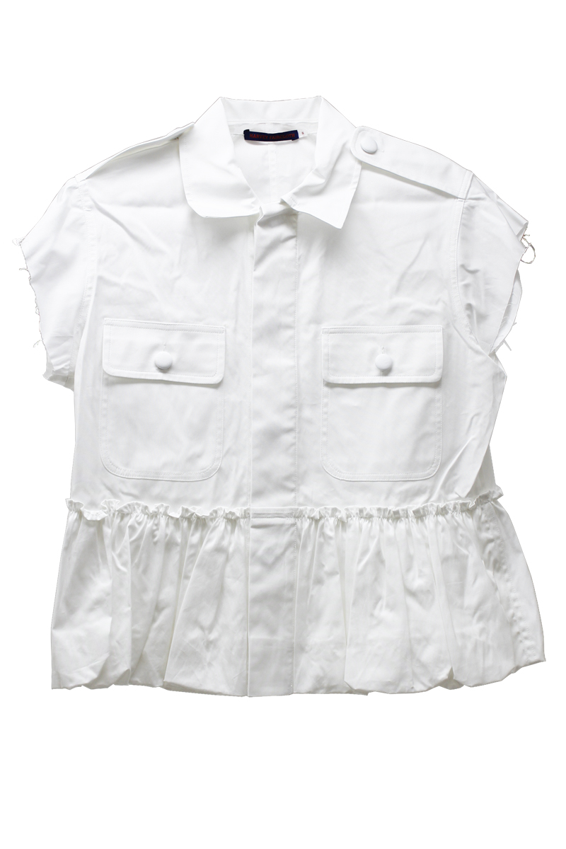 HARVEY FAIRCLOTH コットンバブルヘムフレンチジャケット(WHITE)