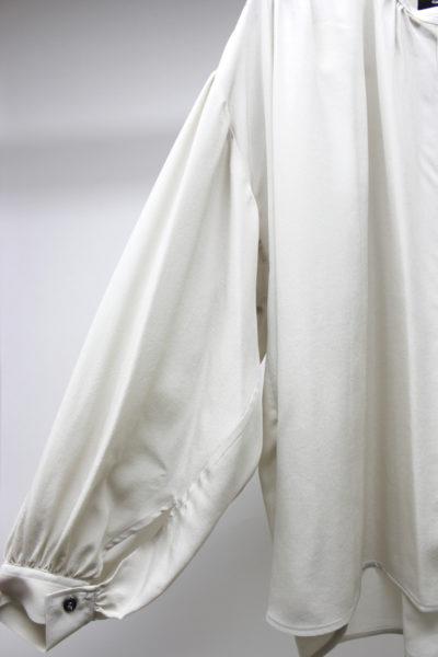 ISABEL MARANT 【V】シルクノーカラーワイド長袖ブラウス [18SS]