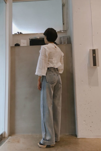 3.1 PHILLIP LIM デニム両サイドZIPロングパンツ【18SS】