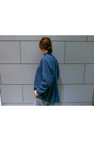 MM6 MAISON MARGIELA デニムフレアーワイド長袖シャツ [18SS]