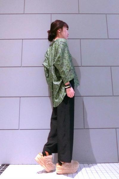 Christian Wijnants シルク植物柄5分袖ワイドブラウス【18SS】