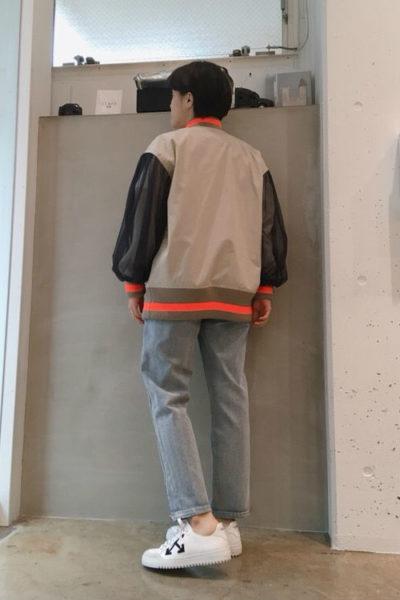 kolor シフォンレイヤードアームボンバージャケット【18SS】