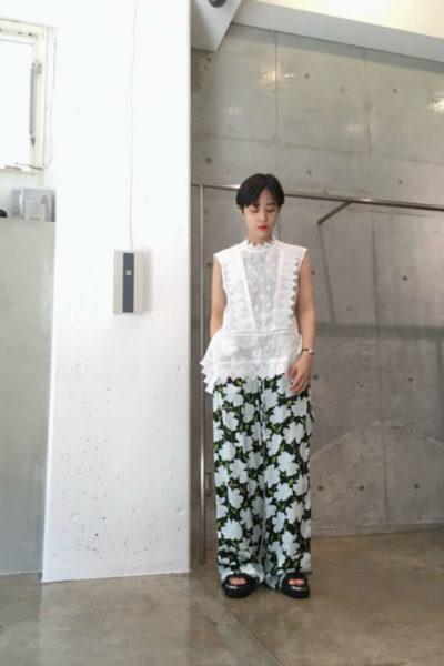 ISABEL MARANT 【PRE SALE - 30%OFF】ラミー刺繍ノースリーブブラウス [18SS]