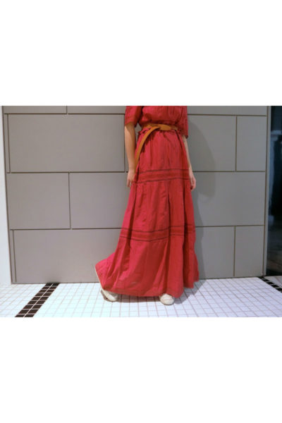 ISABEL MARANT ETOILE 【40%OFF】フロントレース5分袖ワンピース [18SS]