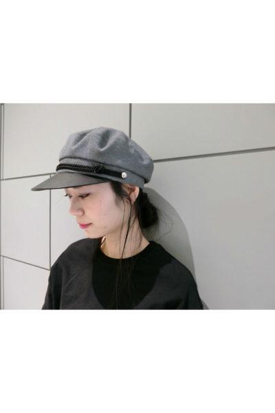 KIJIMA TAKAYUKI レザー切替マリンキャップ[18SS]