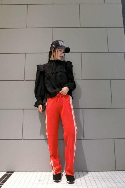 ISABEL MARANT ETOILE 【PRE SALE - 30%OFF】リネンスタンドフリル長袖ブラウス [18SS]