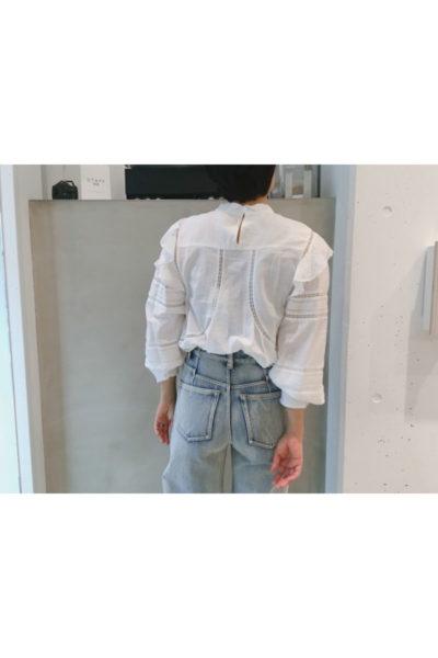 ISABEL MARANT ETOILE 【V】フロントレース長袖ブラウス [18SS]