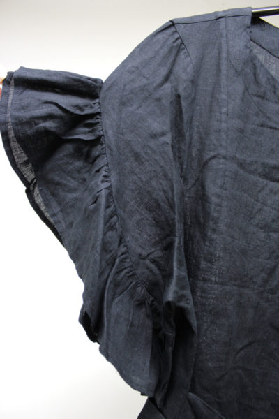 ISABEL MARANT ETOILE 【40%OFF】リネンフリル袖ラップ風ワンピース