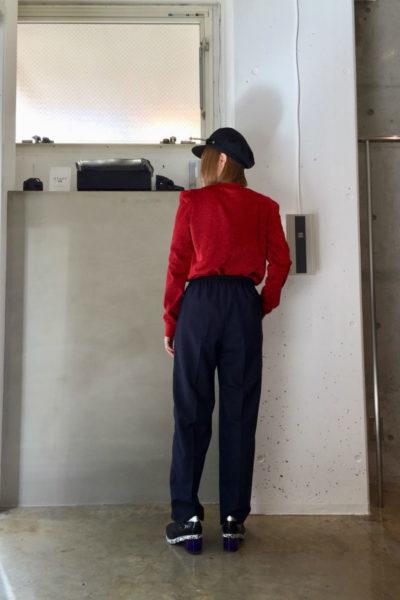 JOHN LAWRENCE SULLIVAN 【40%OFF】ラメ肩タック長袖トップス【18SS】