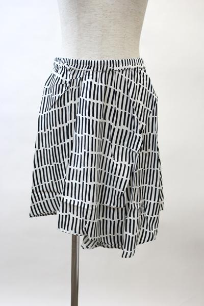 Christian Wijnants シルクラインストライプななめ切替スカート