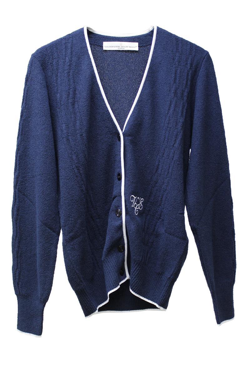 【PRE SALE – 30%OFF】フロント刺繍パイピングカーディガン【18SS】