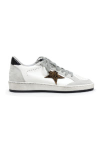 GOLDEN GOOSE DELUXE BRAND バックロゴレオパードスターローカットスニーカー [BALL STAR](LADIE'S)【18SS】