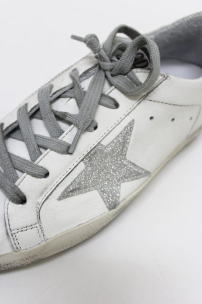 GOLDEN GOOSE DELUXE BRAND シルバーラメスターローカットスニーカー[SUPERSTAR](LADIE'S)【18SS】