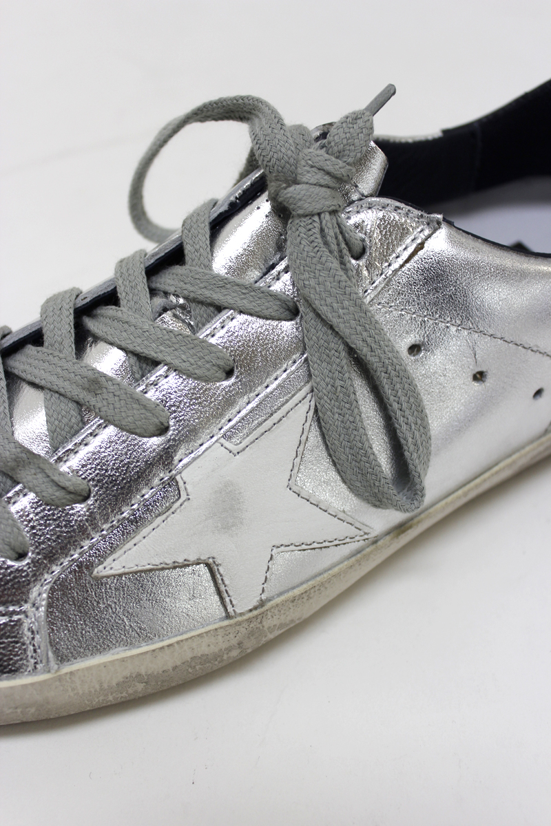GOLDEN GOOSE DELUXE BRAND シルバーローカットスニーカー[SUPERSTAR](LADIE'S)【18SS】