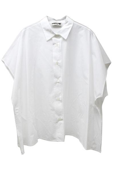 HACHE フレンチスリーブワイドシャツ【18SS】